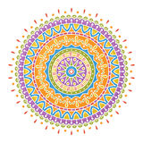 Colorful handdrawn mandala Royalty Free Stock Photography
