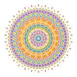 Colorful handdrawn mandala Royalty Free Stock Photography