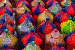 Colorful handicraft lanterns Royalty Free Stock Images
