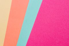 Colorful Handicraft Papers Stock Image