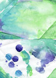 Colorful  handiwork aguarelle painting backdrop  for scrapbookin Stock Photo