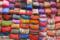 Colorful handmade bags, Peru Stock Photo