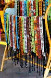 Colorful handmade belts Royalty Free Stock Image