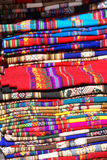 Colorful handmade blankets Stock Image