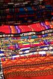 Colorful handmade blankets Stock Photos