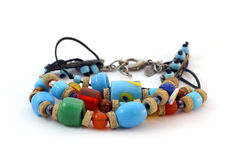 Colorful handmade bracelet Stock Photos