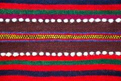 Colorful handmade Bulgarian woollen rug Stock Images
