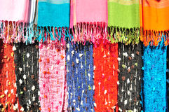 Colorful of Handmade Clothes of Karen Tribe Royalty Free Stock Images