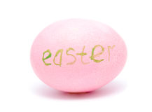Colorful handmade decorated easter egg Royalty Free Stock Photography