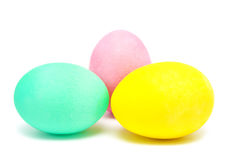 Colorful handmade decorated easter eggs Royalty Free Stock Photo