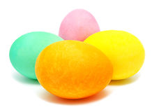 Colorful handmade decorated easter eggs Stock Photo
