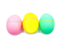Colorful handmade decorated easter eggs isolated Royalty Free Stock Photography