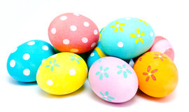 Colorful handmade easter eggs  Stock Photos