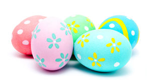 Colorful handmade easter eggs  Royalty Free Stock Photos