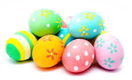 Colorful handmade easter eggs  Royalty Free Stock Photography