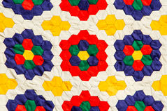 Colorful handmade fabric Stock Image