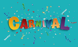 Colorful handmade font type carnival. Stock Photo