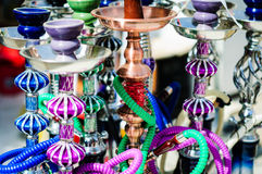 Colorful Handmade Hookah And Narghile Stock Photography