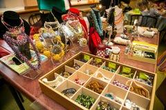 Colorful handmade jewelry Stock Image