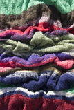 Colorful handmade knitted texture Royalty Free Stock Photos