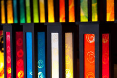 Colorful Handmade Lamps Royalty Free Stock Photography