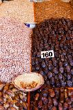 Colorful handmade craft and spices in Marrakesh, Morocco Royalty Free Stock Photography