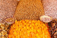 Colorful handmade craft and spices in Marrakesh, Morocco Stock Photo