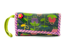 Colorful Handmade Of Small Fabric Purse Stock Image