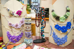 Colorful handmade ornamentals Royalty Free Stock Images