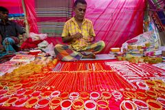 Colorful handmade ornaments, in a Bangla Pohela Baishakh fair. The century's old traditional Boishakhi Fair-cum-Abdul Jabbar Wrestling Competition, one of the Royalty Free Stock Photos