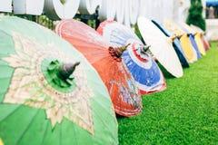 Colorful handmade paper umbrella royalty free stock photos