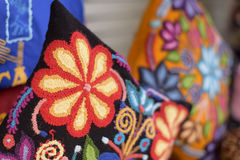 Colorful handmade pillow or cushion Royalty Free Stock Photos