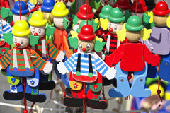 Colorful handmade puppets Royalty Free Stock Images