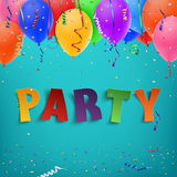 Colorful handmade typface party. Stock Images
