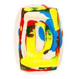 Colorful handmade of white clay letter D Royalty Free Stock Image