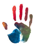 Colorful handprint Stock Photo