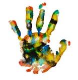 Colorful handprint Stock Photos