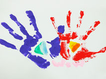 Colorful handprint Stock Image