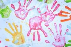 Colorful handprint Royalty Free Stock Photo