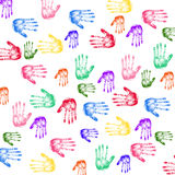 Colorful Handprints Stock Photos