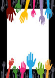 Colorful hands Stock Photography