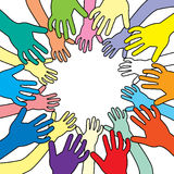Colorful hands Royalty Free Stock Image