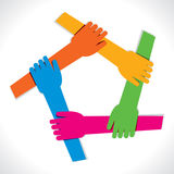 Colorful hands background Royalty Free Stock Photos