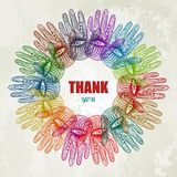 Colorful hands background. EPS 10. Colorful hands background. Vector illustration, EPS 10 Stock Photography