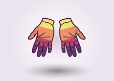 Colorful hands background. Flat shapes royalty free illustration