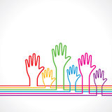 Colorful hands background Royalty Free Stock Images