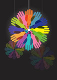 Colorful hands circle Royalty Free Stock Image