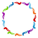 Colorful Hands Circle Stock Image