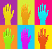 The colorful hands Stock Images