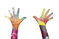 Colorful hands Royalty Free Stock Photos
